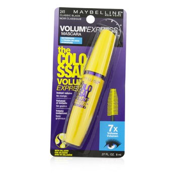 Maybelline มาสคาร่ากันน้ำ Volum Express The Colossal Waterproof Mascara - #Classic Black