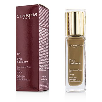 Clarins รองพื้น True Radiance Foundation SPF15 - #114 Cappuccino