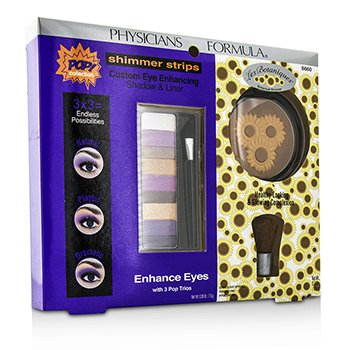 physicians Formula ชุดแต่งหน้า Makeup Set 8660: 1x อายแชโดว์ Shimmer Strips Eye Enhancing Shadow, 1x Bontanical Bronzer, 1x แปรง Applicator
