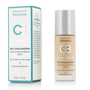 Exuviance รองพื้น  CoverBlend Skin Caring Foundation SPF20 - # True Beige