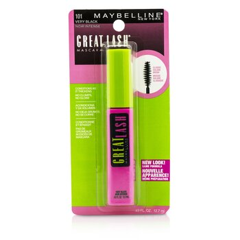 Maybelline มาสคาร่า Great Lash Mascara with Classic Volume Brush - #101 Very Black