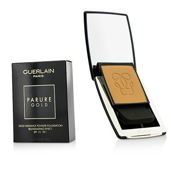 Guerlain แป้งรองพื้น Parure Gold Rejuvenating Gold Radiance Powder Foundation SPF 15 - # 05 Beige Fonce