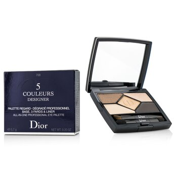 คริสเตียน ดิออร์ 5 Color Designer All In One Professional Eye Palette - No. 708 Amber Design