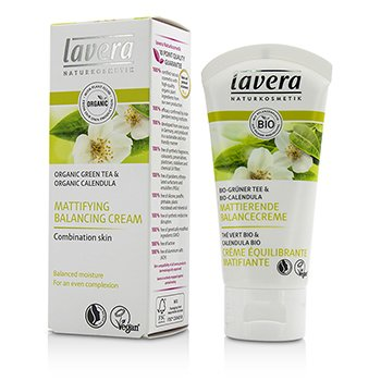 Lavera Organic Green Tea & Calendula Mattifying Balancing Cream (For Combination Skin)