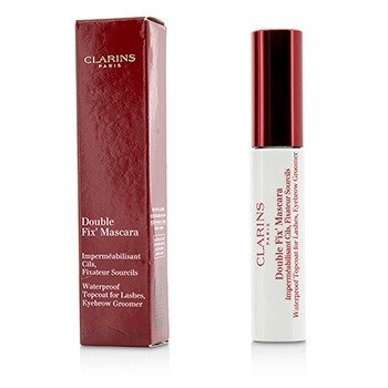 Clarins Double Fix Mascara (Waterproof Topcoat For Lashes, Eyebrow Groomer)