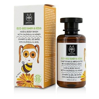 Apivita Eco-Bio Baby & Kids Hair & Body Wash With Calendula & Honey