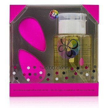 BeautyBlender Two BB Clean Kit (2x BeautyBlender, 1x Liquid BlenderCleanser 150ml) - Original (Pink)