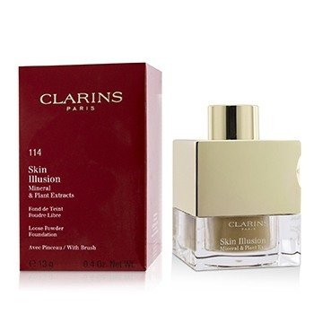 Clarins Skin Illusion Mineral & Plant Extracts Loose Powder Foundation (With Brush) (New Packaging)- # 114 Cappuccino