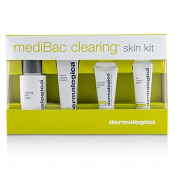 Dermalogica MediBac Clearing Skin Kit: Clearing Skin Wash + Sebum Clearing Masque + Overnight Clearing Gel + Oil Control Lotion