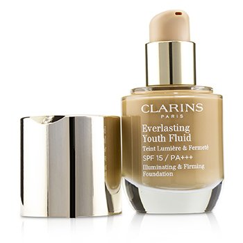 Clarins Everlasting Youth Fluid Illuminating & Firming Foundation SPF 15 - # 114 Cappuccino