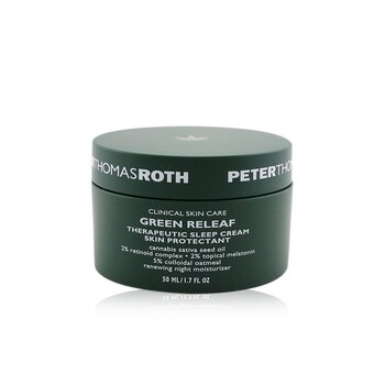 Peter Thomas Roth Green Releaf Therapeutic Sleep Cream Skin Protectant - Renewing Night Moisturizer