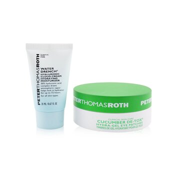 Peter Thomas Roth Drench & De-Tox 2-Piece Kit: Hydrating Moisturizer 20ml + Cucumber Eye Patches 15pairs