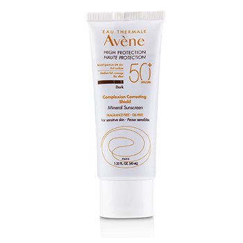 Avene Complexion Correcting Shield Mineral Sunscreen SPF 50 - #Dark (For Sensitive Skin) - Exp. Date: 01/2020